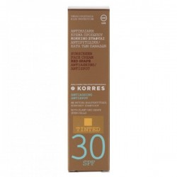 KORRES TINTED SUNSCREEN FACE CREAM RED GRAPE ANTISPOT SPF30 50ML