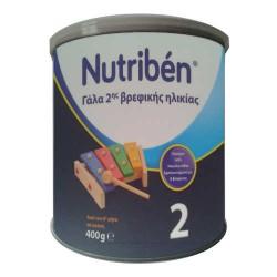 NUTRIBEN 2 ΓΑΛΑ ΓΙΑ ΒΡΕΦΗ ΑΠΟ 6Ο ΜΗΝΑ 400GR