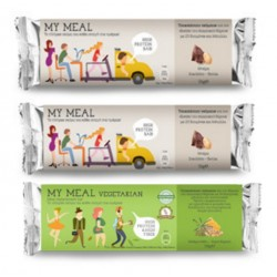 POWER HEALTH MY MEAL BARS ΣΟΚΟΛΑΤΑ ΦΥΣΤΙΚΙ 56GR + ΔΩΡΟ BAR VEGETARIAN 58GR