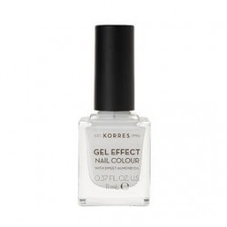 KORRES GEL EFFECT NAIL COLOR No01 BLANC WHITE 11ML