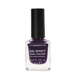 KORRES GEL EFFECT NAIL COLOR No 75 VIOLET GARDEN 11ml