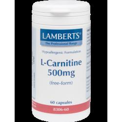 LAMBERTS L-CARNITINE 500MG 60TABS