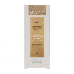 KORRES ABYSSINIA SUPERIOR GLOSS COLORANT 9.1 EXTRA LIGHT ASH BLONDE