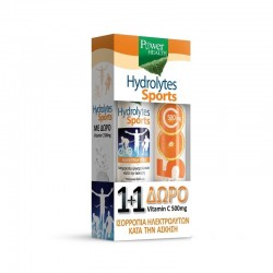 POWER HEALTH HYDROLYTES SPORTS 20TABS & ΔΩΡΟ VITAMIN C 500MG 20TABS