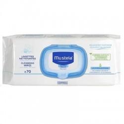 MUSTELA CLEANSING WIPES  70TEM