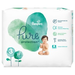 PAMPERS PURE PROTECTION ΜΕΓΕΘΟΣ 3 31ΤΕΜ