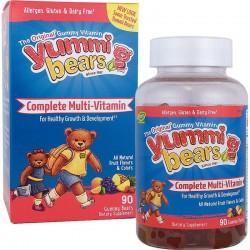YUMMI BEARS COMPLETE MULTI-VITAMIN & MINERALS 90 BEARS