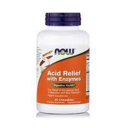 NOW ACID RELIEF WITH ENZYMES 60CHEWABLES