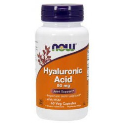 NOW HYALURONIC ACID 50MG & MSM 60VCAPS